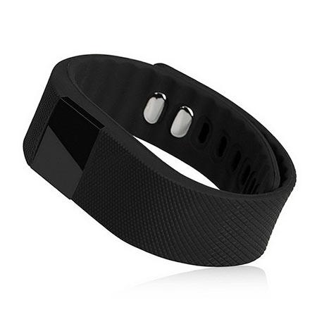 Inteligentný fitness náramok - farba čierna