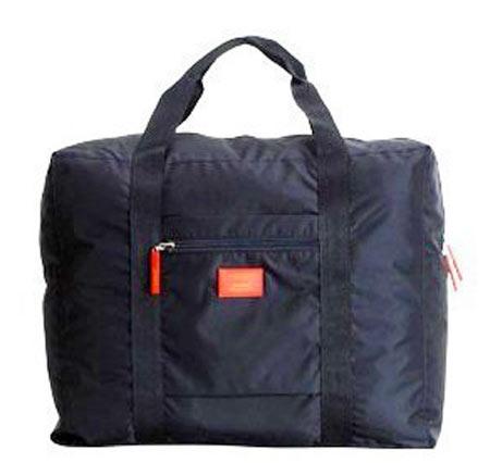 Veľká skladacia cestovná taška Simone - farba čierna