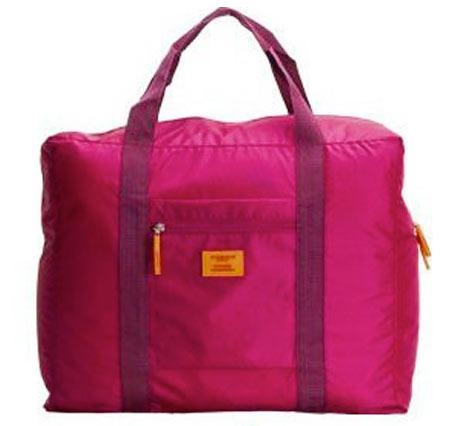 Veľká skladacia cestovná taška Simone - farba červená