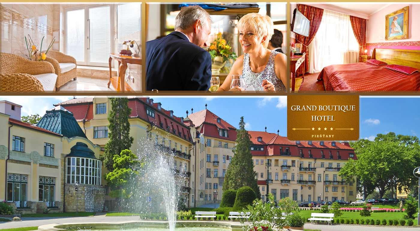 Skvelý wellness pobyt pre seniorov v GRAND BOUTIQUE HOTEL SERGIJO**** v Piešťanoch