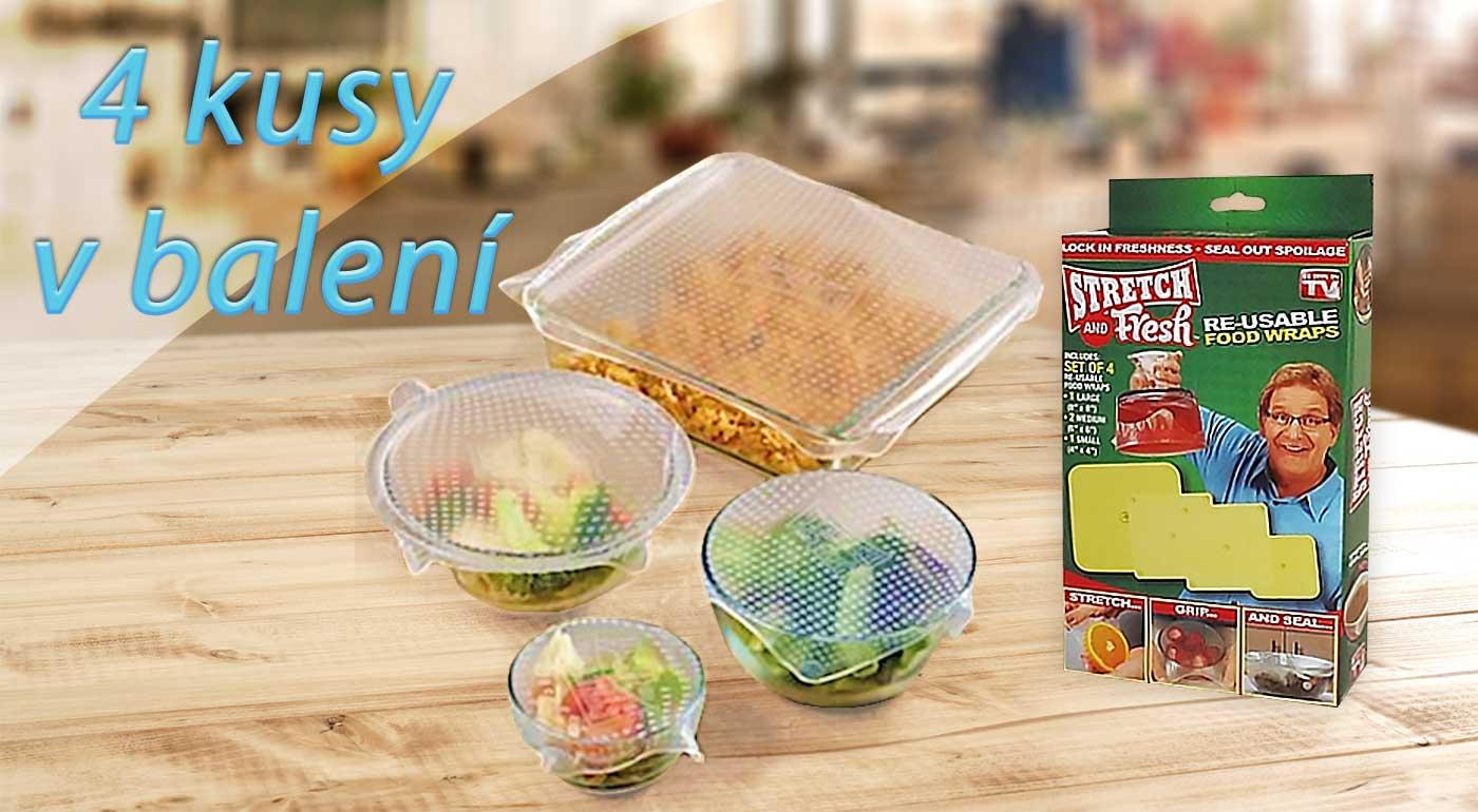 Ochráňte vaše potraviny pred hmyzom i skazením - balenie 4 ks silikónových pokrievok