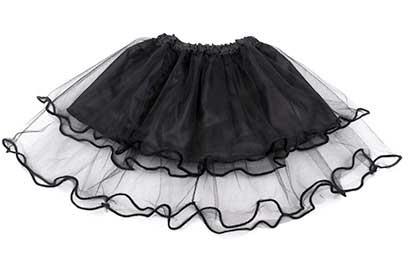 Dievčenská suknička - farba čierna