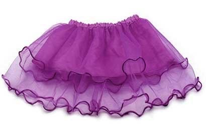 Dievčenská suknička - farba tmavofialová
