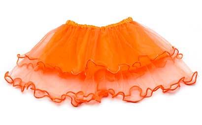 Dievčenská suknička - farba oranžová