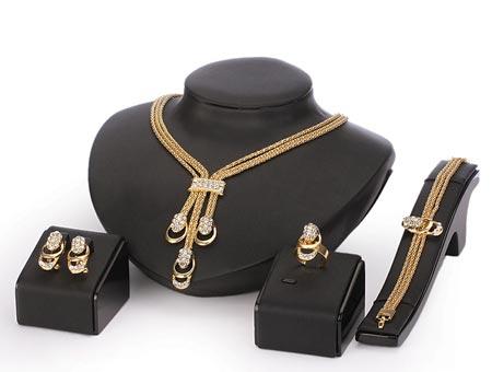 4-dielny set šperkov Rhea (náhrdelník, náramok, náušnice, prsteň)
