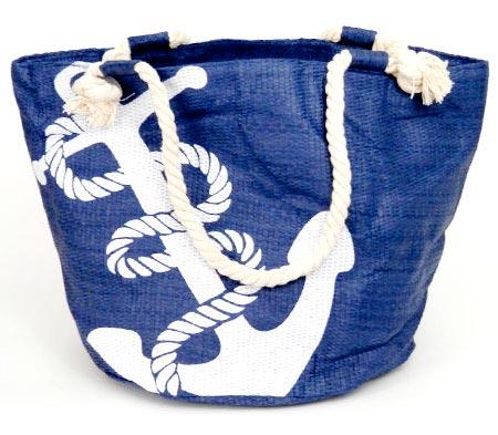 Dámska plážová taška s kotvou - modré