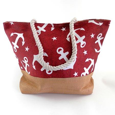 Dámska taška s veľkými kotvičkmi - červená