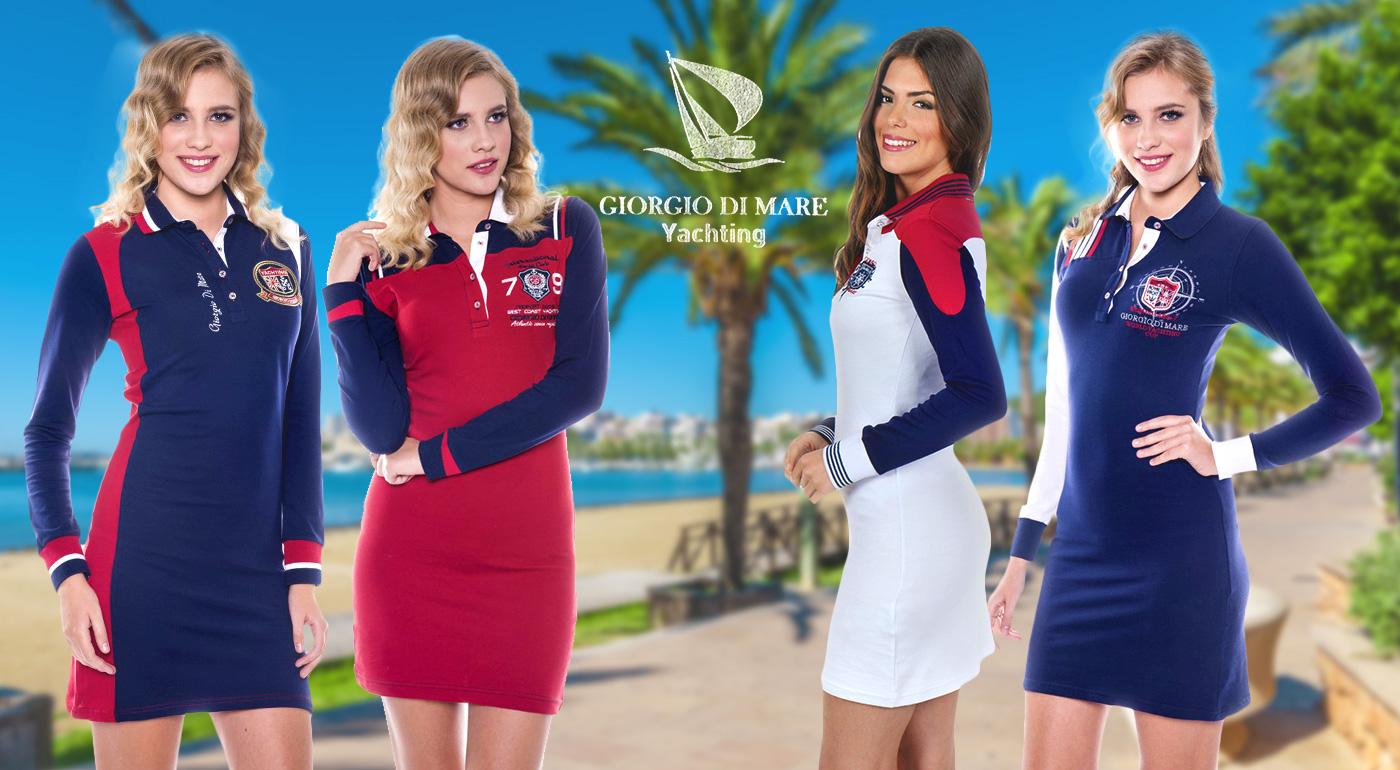 Štyri modely dámskych šiat s dlhým rukávom Giorgio Di Mare si zamilujete