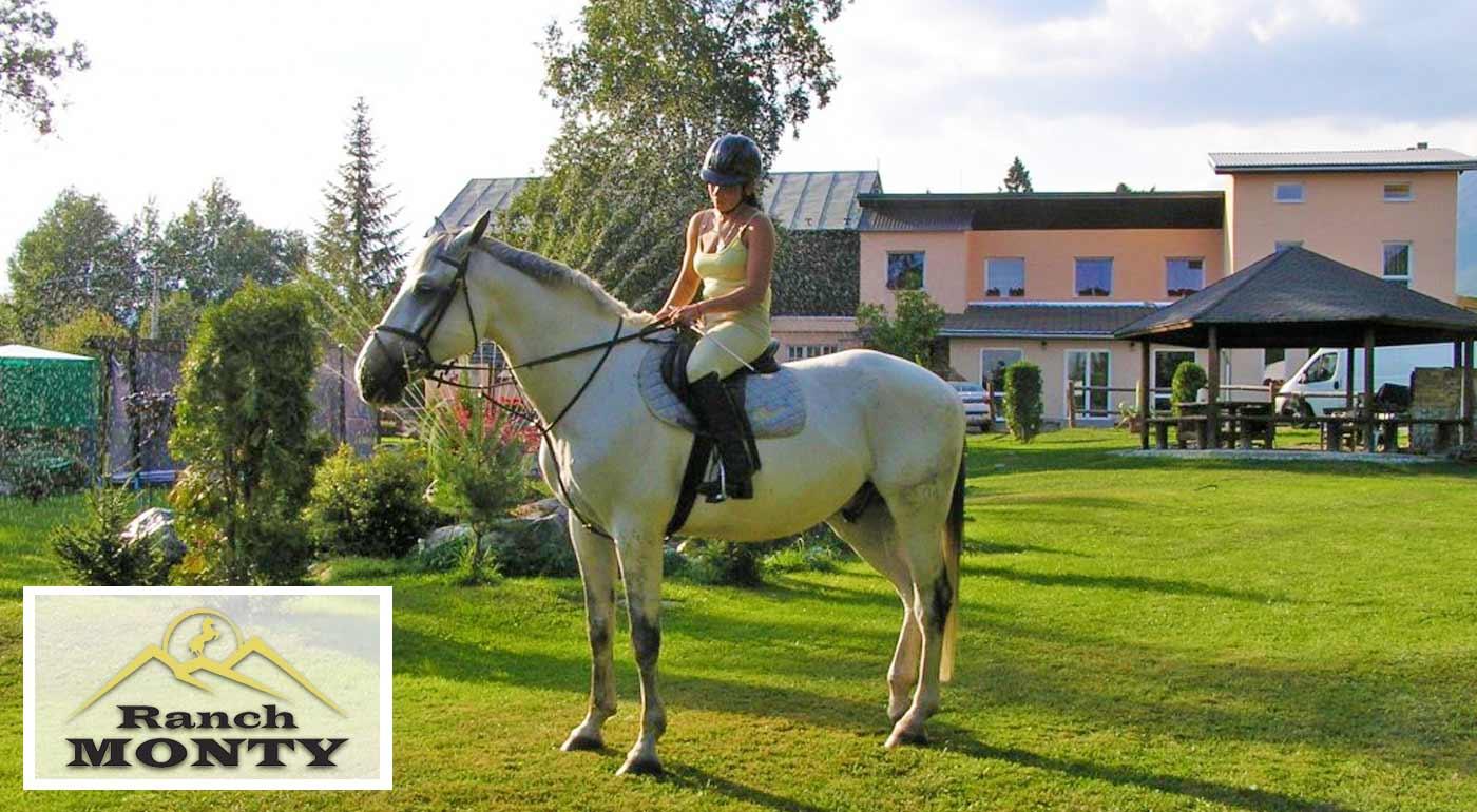 Neopakovateľný pobyt v konskom sedle v Penzióne Monty Ranch v Tatrách