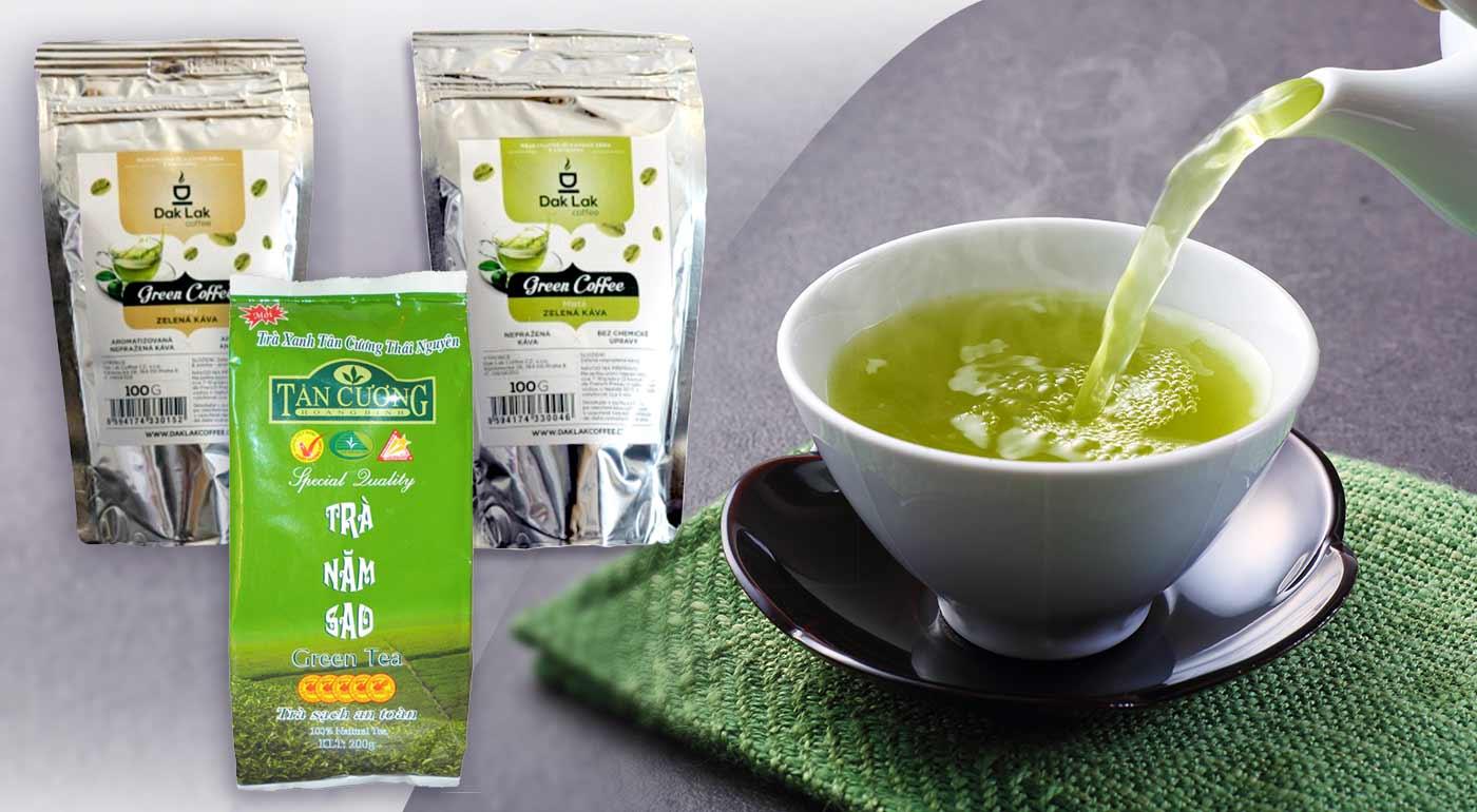 Doplňte antioxidanty - BIO Zelená káva a ručne zbieraný zelený čaj z Vietnamu