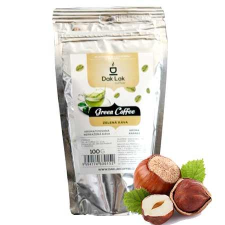BIO zelená káva (100g) - príchuť oriešky