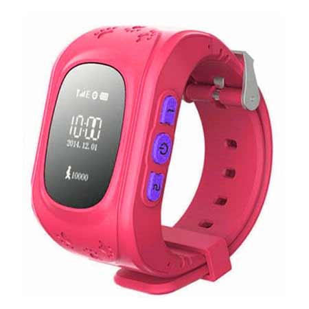 Detské hodinky s GPS lokalizáciou - farba ružová