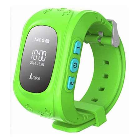 Detské hodinky s GPS lokalizáciou - farba zelená