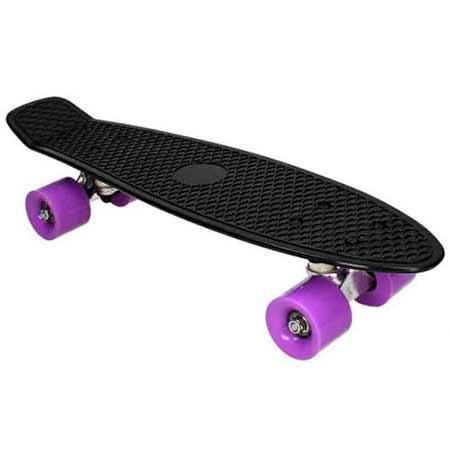 Pennyboard Fish - čierna farba s fialovými kolieskami