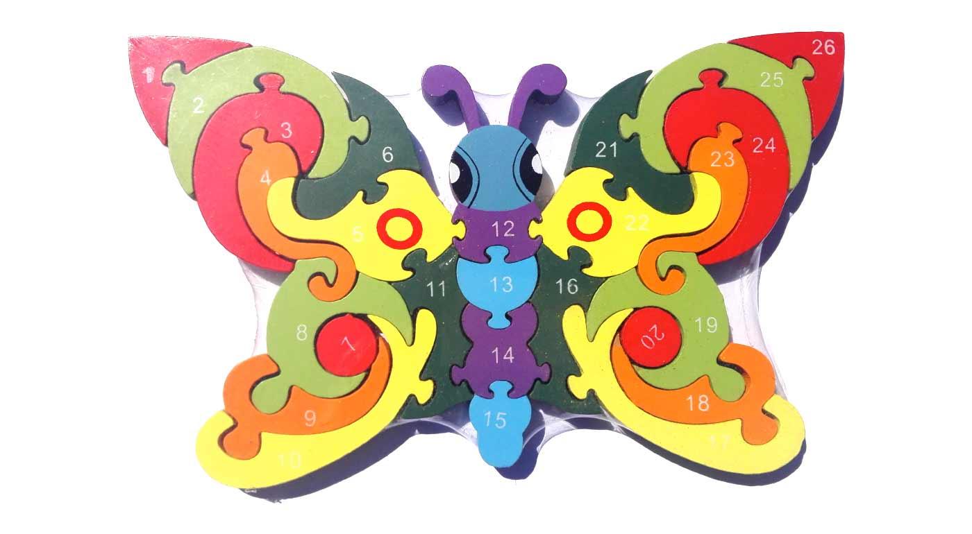 Drevené puzzle - motýľ