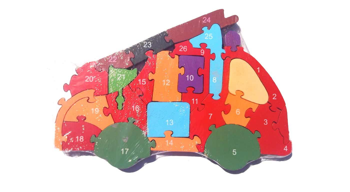 Drevené puzzle - hasičské auto