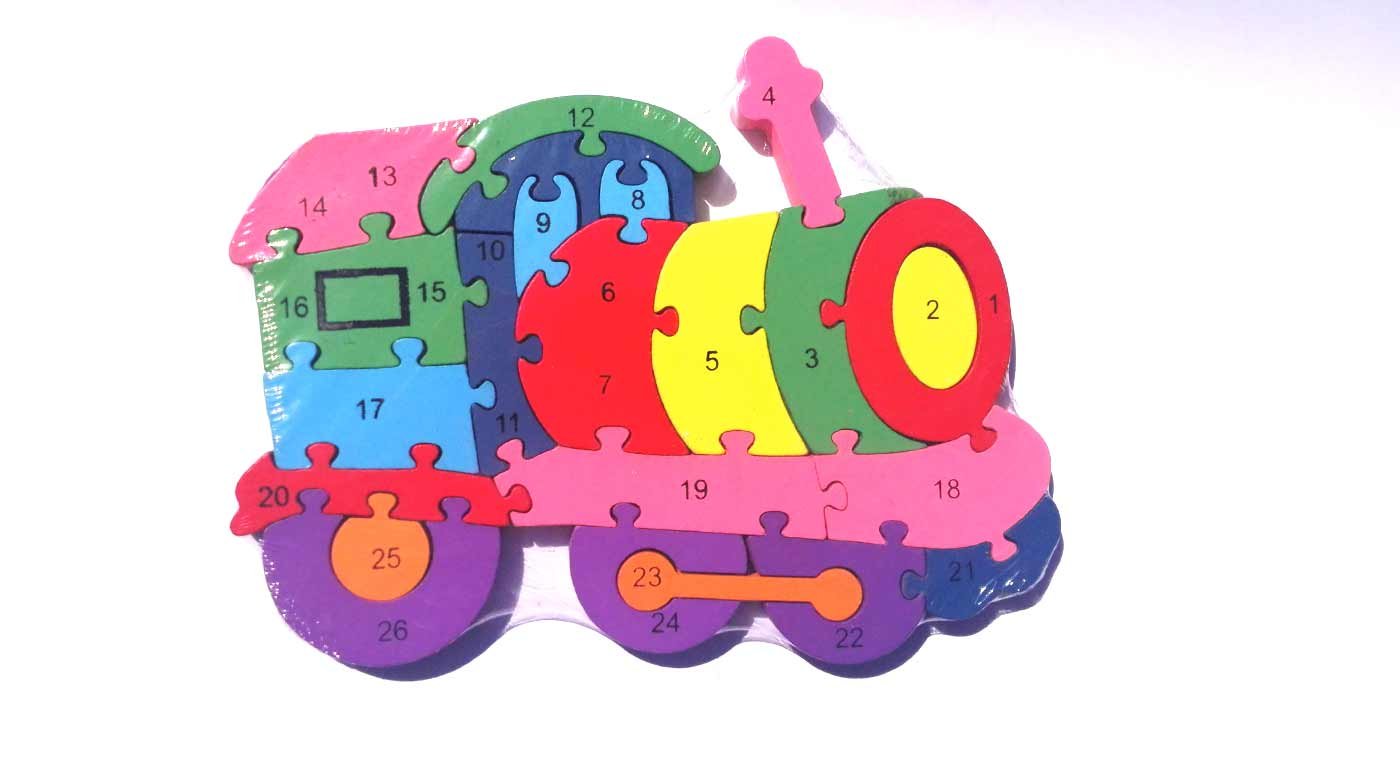 Drevené puzzle - lokomotíva
