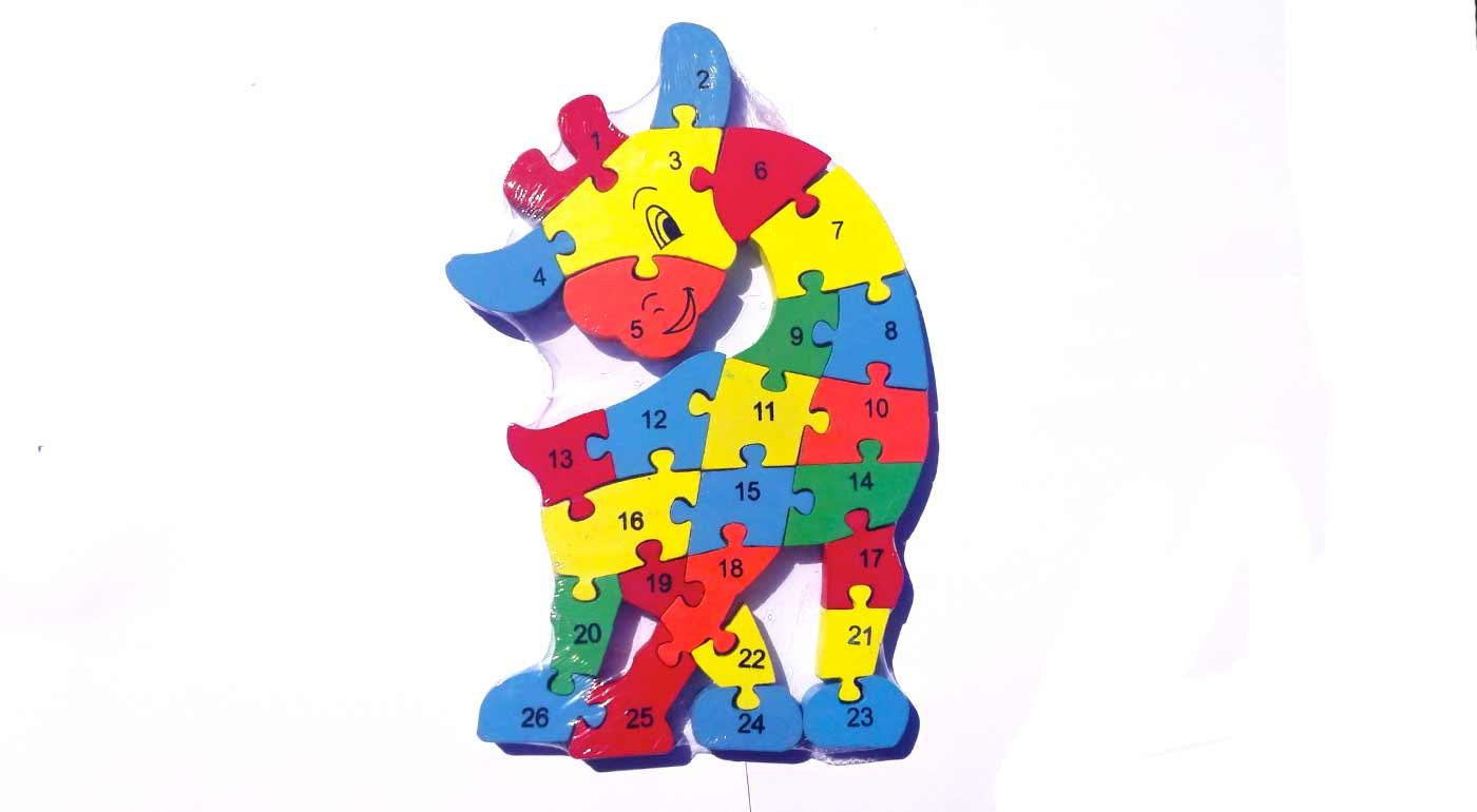 Drevené puzzle - žirafa