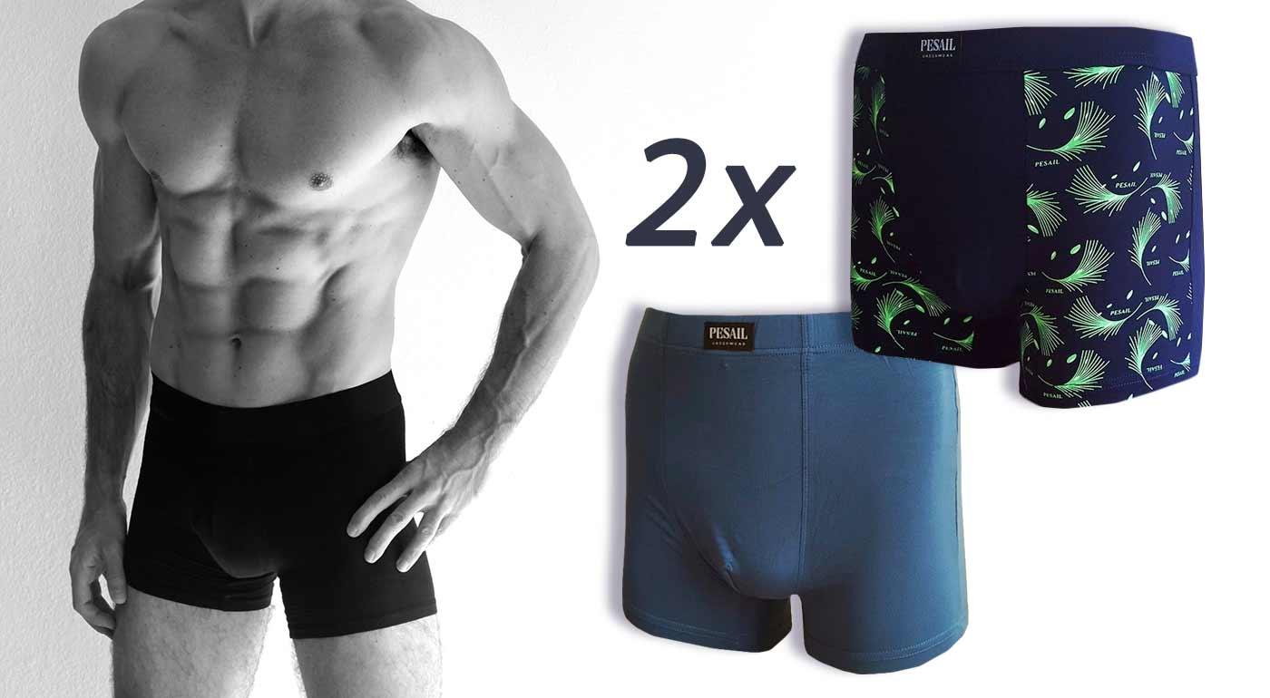 Pánske boxerky z bambusového vlákna - v balení 2 ks - veľkosť M/L