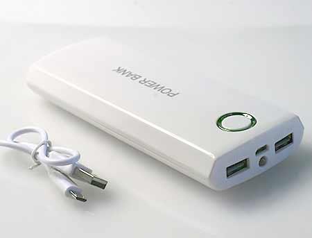 Power banka B-20000P bielo-zelená
