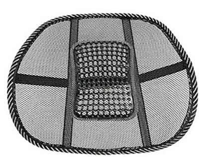 Masážna opierka chrbta v čiernej farbe