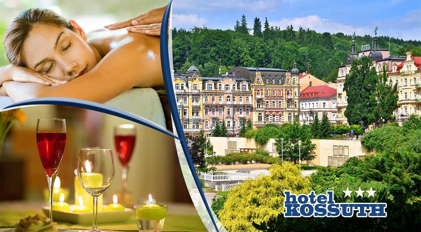 Oddychový wellness pobyt s balíkom procedúr v Hoteli Kossuth *** v Mariánskych Lázňach