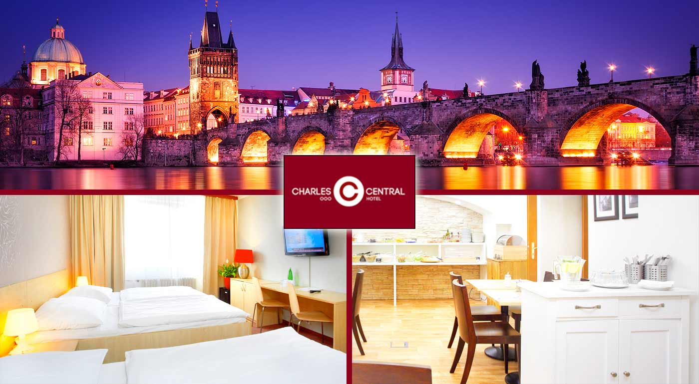Skvelé 3 dni v Prahe v Hoteli Charles Central *** pre dvoch