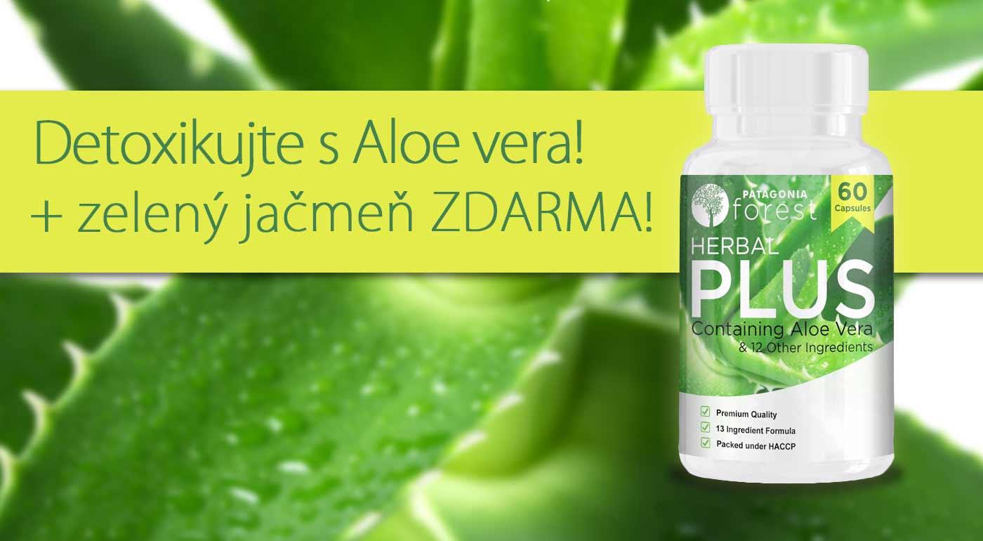 Očista a detox s Herbal Plus komplexom s aloe vera. Darček pri kúpe 2 ks - 1 balenie zeleného jačmeňa zadarmo!