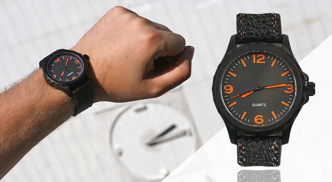 Pánske hodinky so športovo-elegantným dizajnom v čiernej farbe - bonus 3+1  ZADARMO ... 0b3e3161717