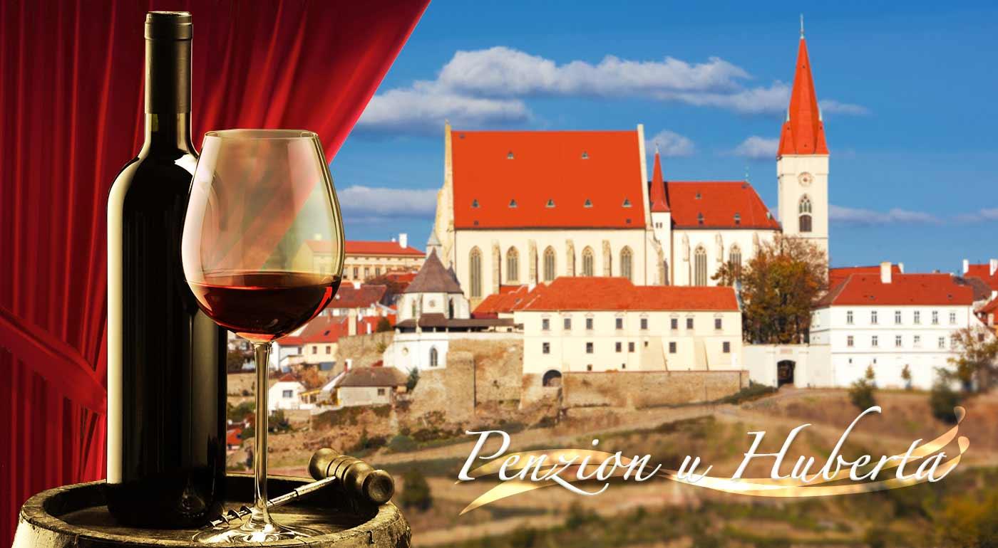 Penzión U Huberta v Znojme s polpenziou a fľašou vína pre dvojicu či celú rodinu