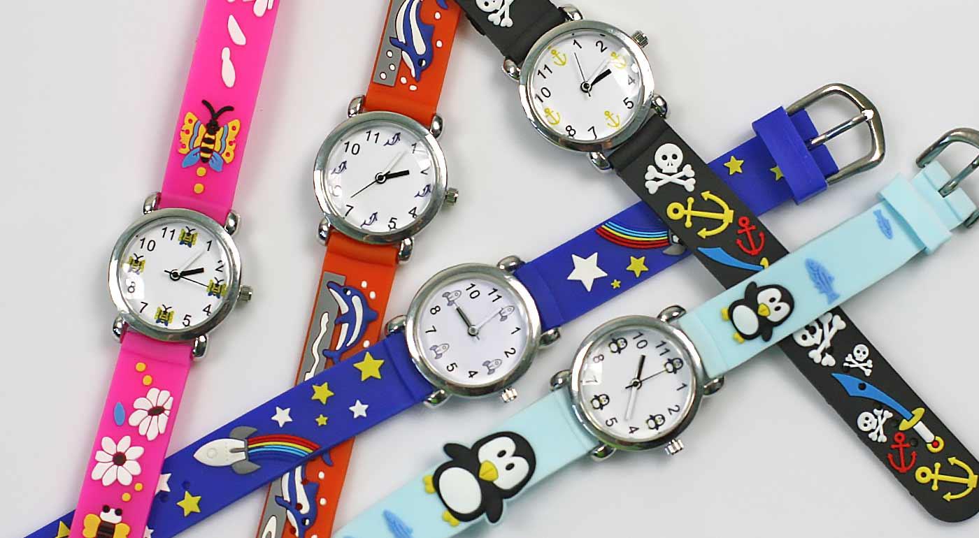 Hravé ručičkové hodinky pre všetky deti - akcia 3+1 GRÁTIS