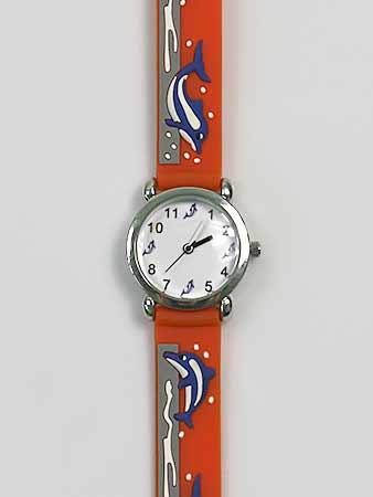 Detské ručičkové hodinky s motívom delfínov