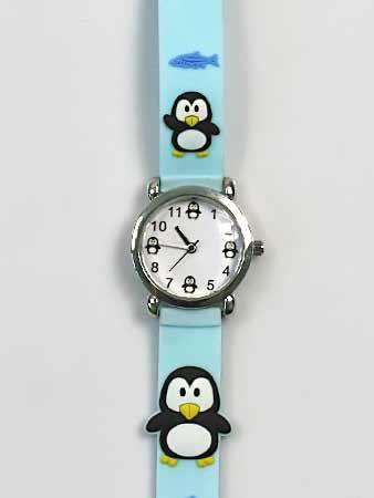 Detské ručičkové hodinky s motívom tučniakov
