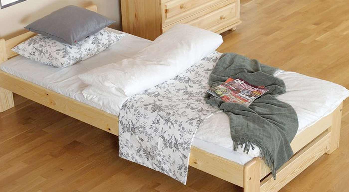 Postele z borovicového masívu v rôznych rozmeroch a kvalitnom prevedení - v cene je rošt i matrac!