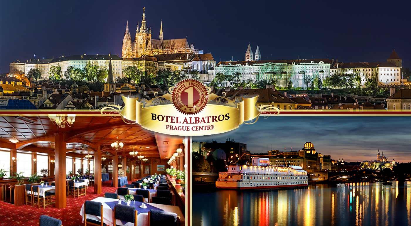 Výnimočná návšteva Prahy na vlnách Vltavy v Boteli Albatros***