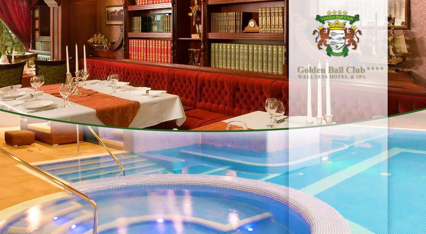 Kráľovský wellness oddych v Golden Ball Club**** Wellness & Spa Hotel v centre Győru