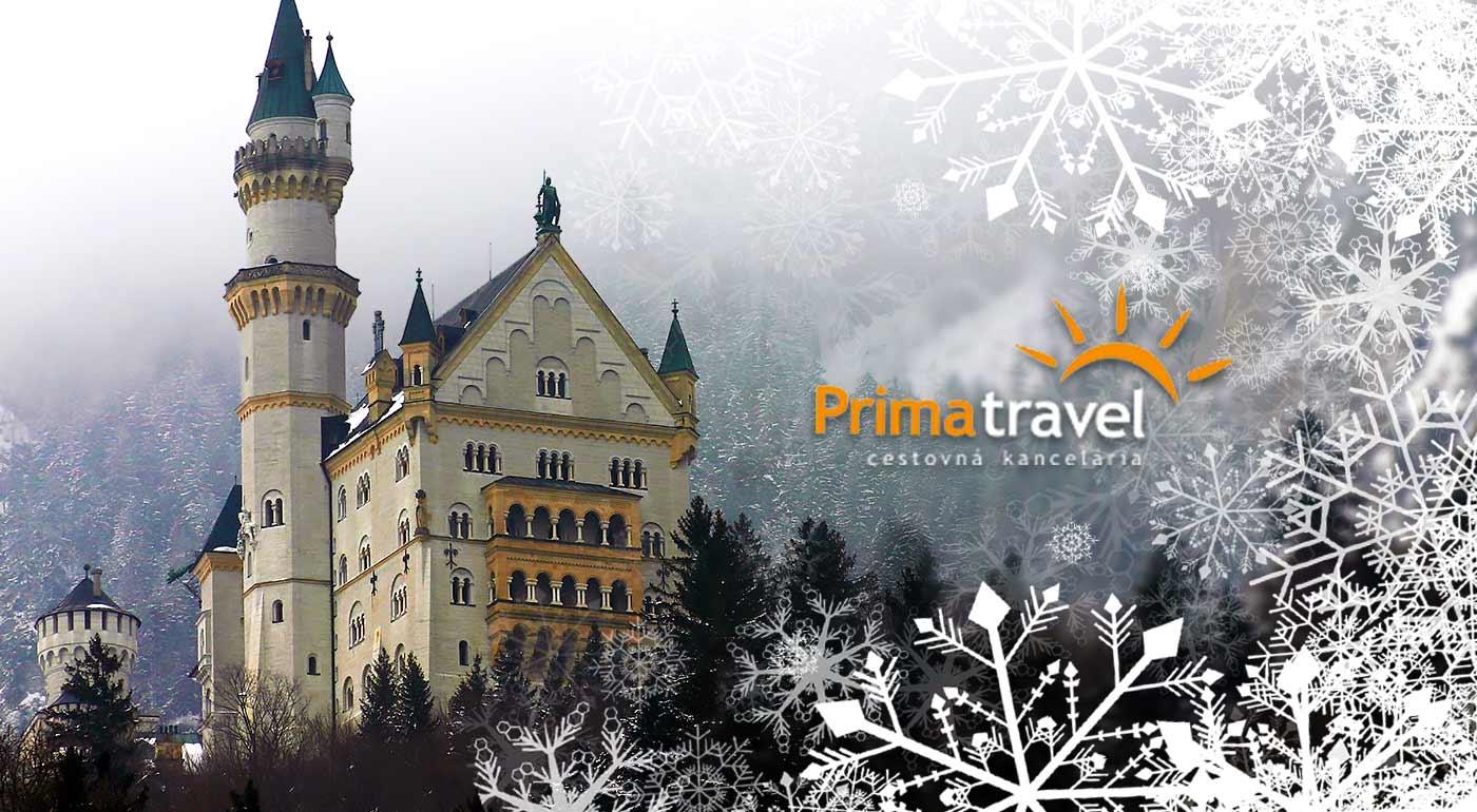 Vyberte sa do rozprávky! Návšteva zasneženého Neuschwansteinu a ďalších bavorských zámkov
