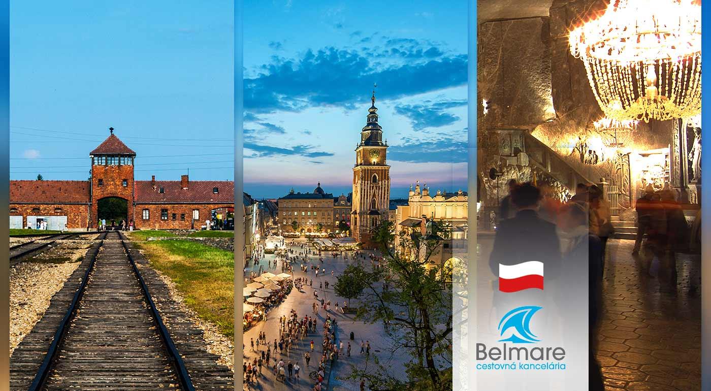 Poznávací zájazd do Osvienčimu s návštevou Krakowa a soľnej bane Wieliczka