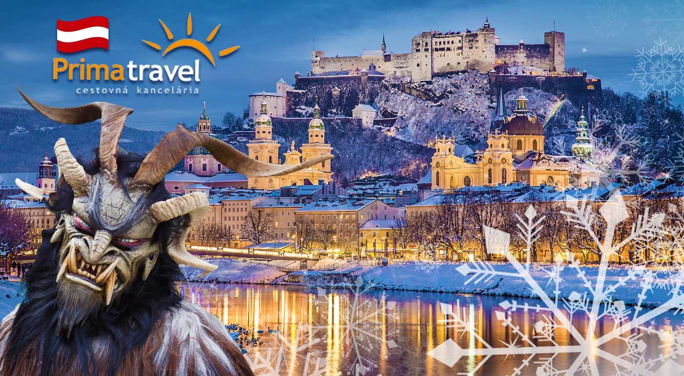 Čaro vianočného Salzburgu, dedinky Hallsatt či jazera Wolfgangsee a najväčší beh čertov počas 2-dňového zájazdu