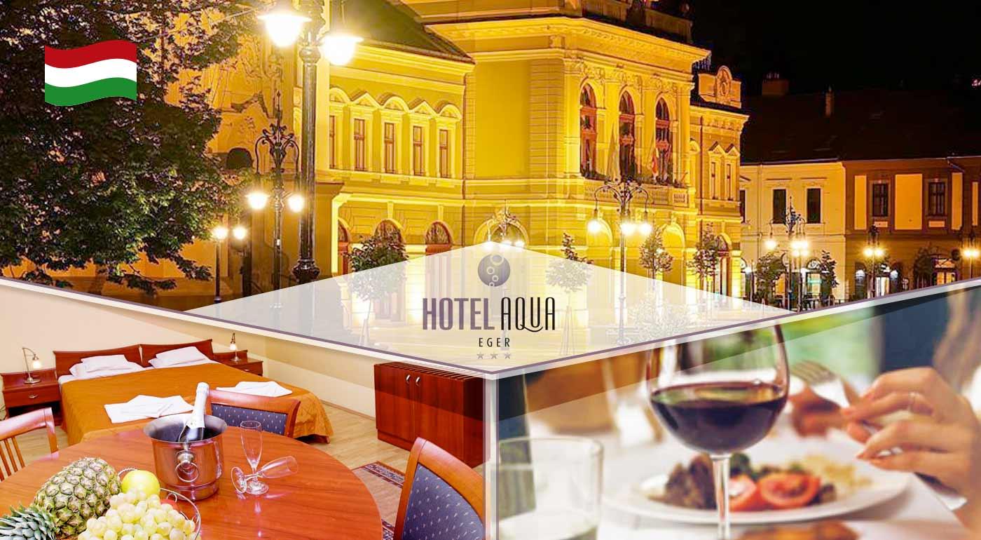 Relax pre dvojicu v Hoteli Aqua*** v maďarskom kúpeľnom meste Eger vrátane polpenzie a vstupu do wellness