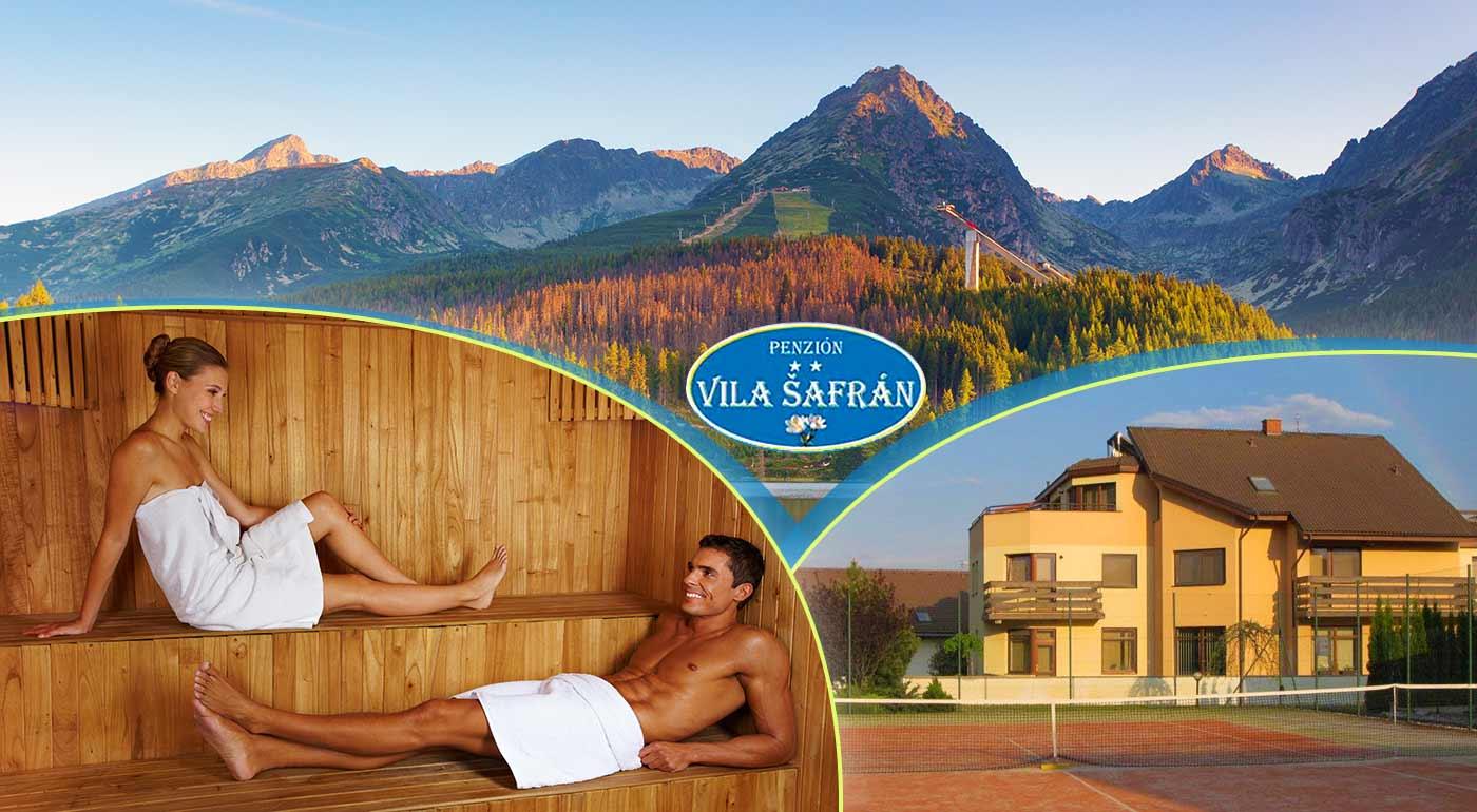Tatranská pohoda a relax v útulnom penzióne Vila Šafrán**