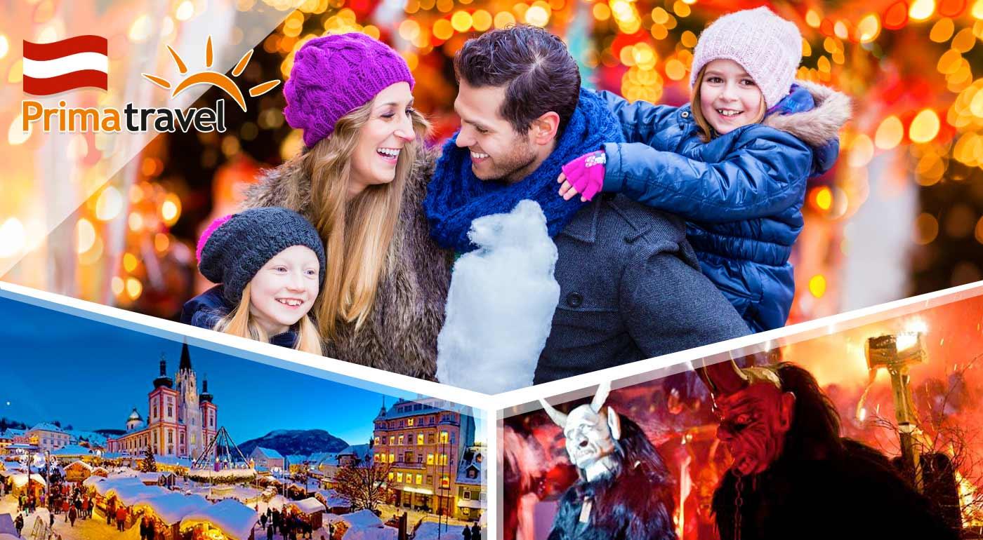 Vianoce v Mariazelli a strhujúci beh čertov