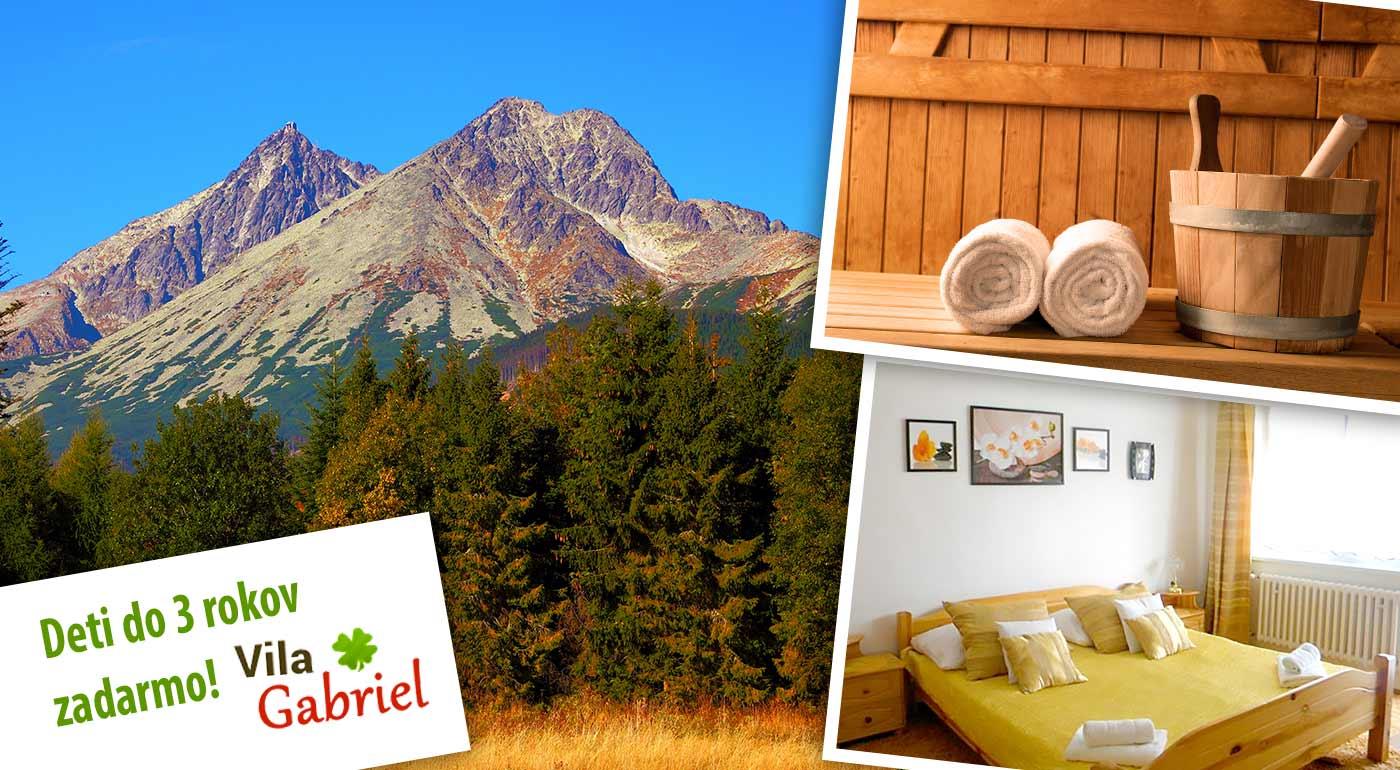 Skvelý oddych v Tatrách s polpenziou, saunou a masážou vo Vile Gabriel
