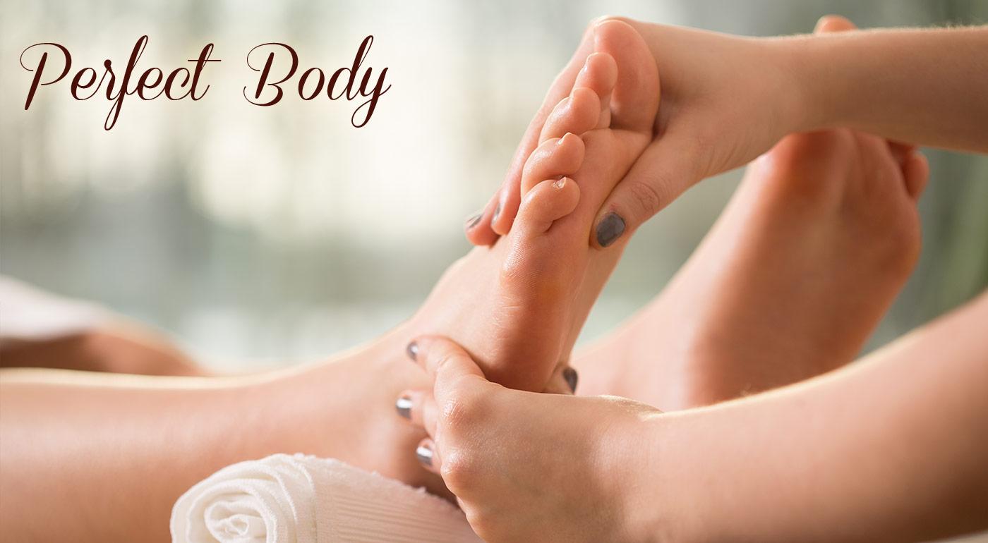Reflexná masáž chodidiel v salóne Perfect Body