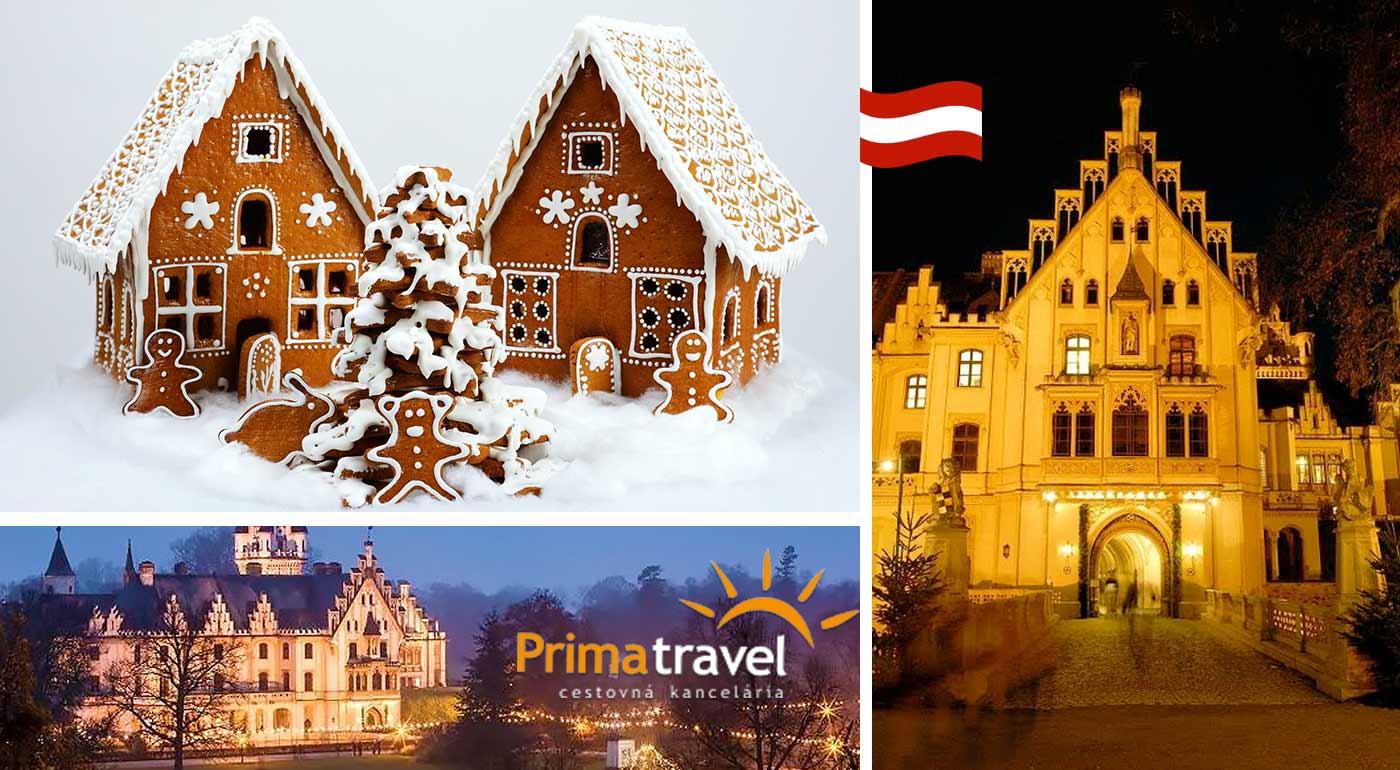Vychutnajte si krásu a omamnú vôňu perníkových chalúpok na výstave v kláštore Zwettl a advent na zámku Grafenegg