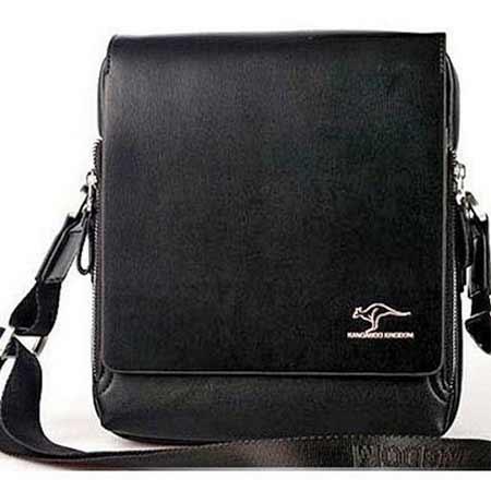 ade85f48121b7 Pánska kožená taška Kangaroo Kingdom - farba čierna