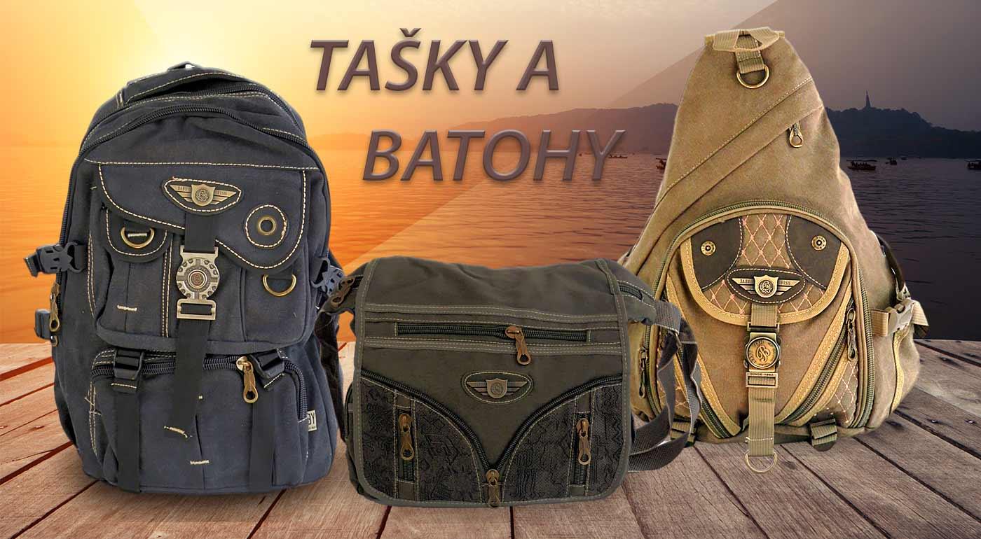 Batohy a tašky s vojenským vzorom