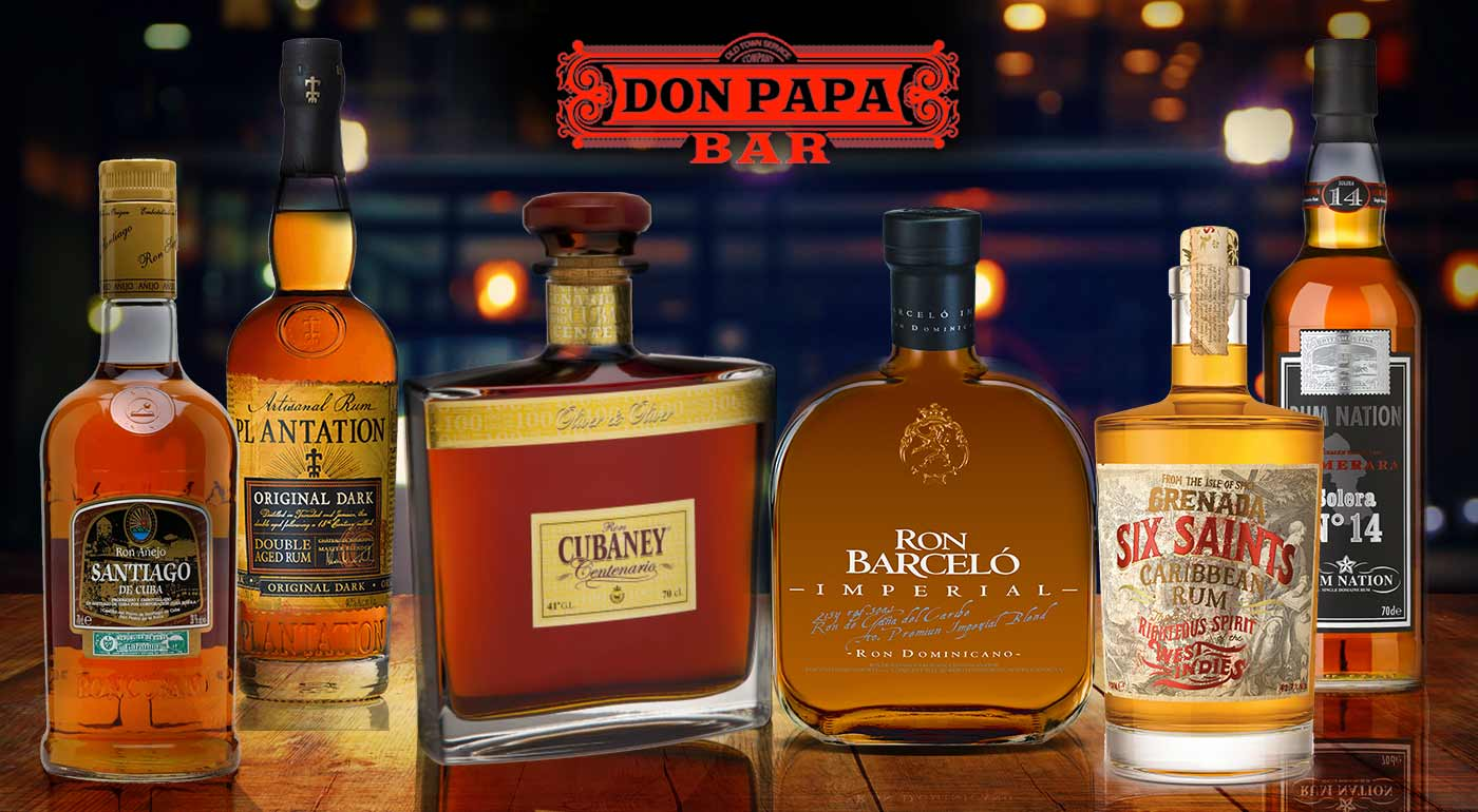 Ochutnávka 8 prémiových rumov v bare Don Papa