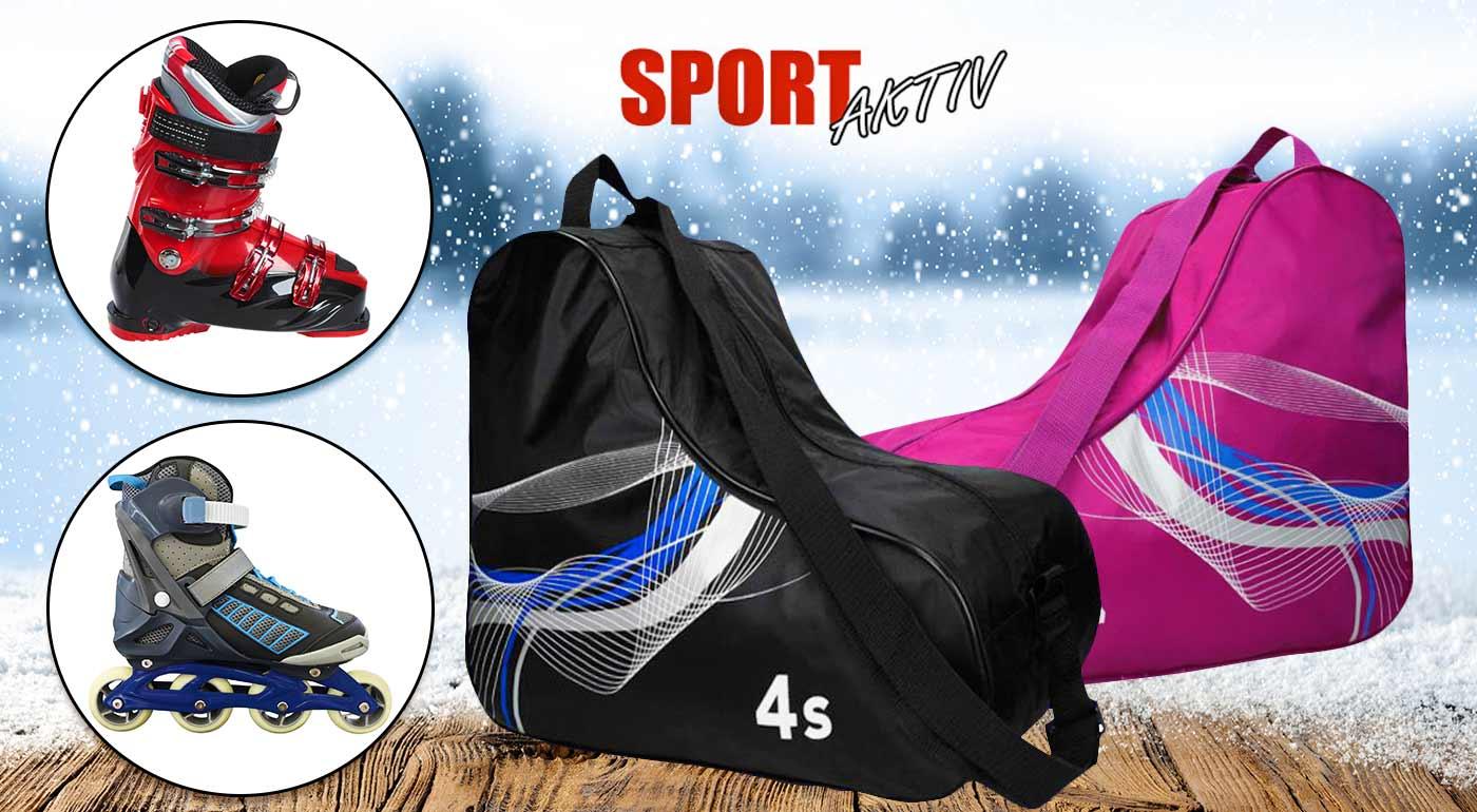 07398f6971 Praktický športový vak na lyžiarky či kolieskové korčule - tri farby