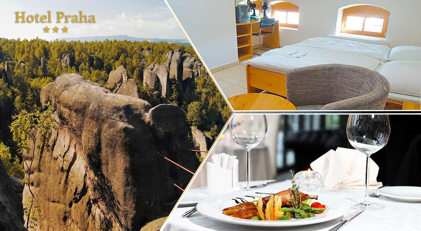 Aktívny oddych na skvelom pobyte pre dvoch v Hoteli Praha*** v blízkosti Adršpašsko-Teplických skál